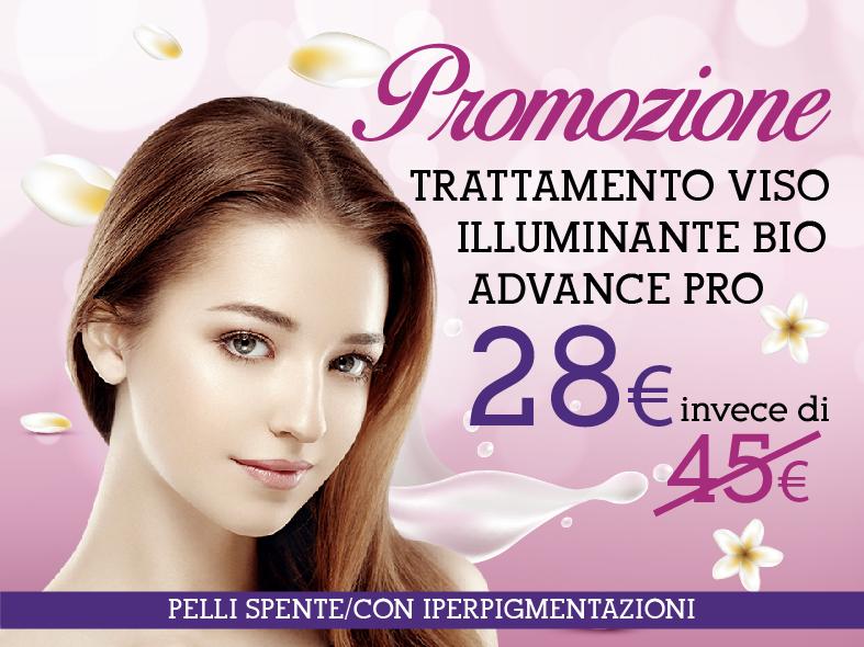 Promozione trattamento viso illuminante