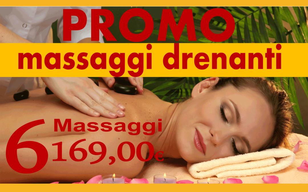 Promozione massaggi drenanti